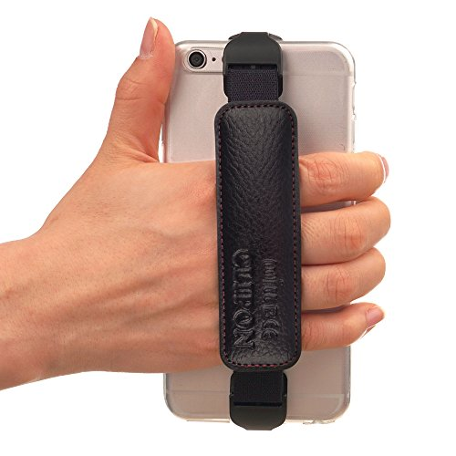 Clipon For Smartphone Black Hand Strap Band Holder