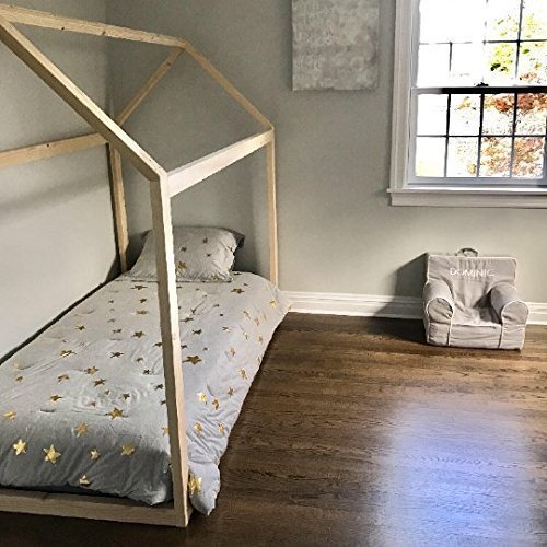 Twin House Bed Frame (2x3 wood pieces) by The Pinned Purveyor