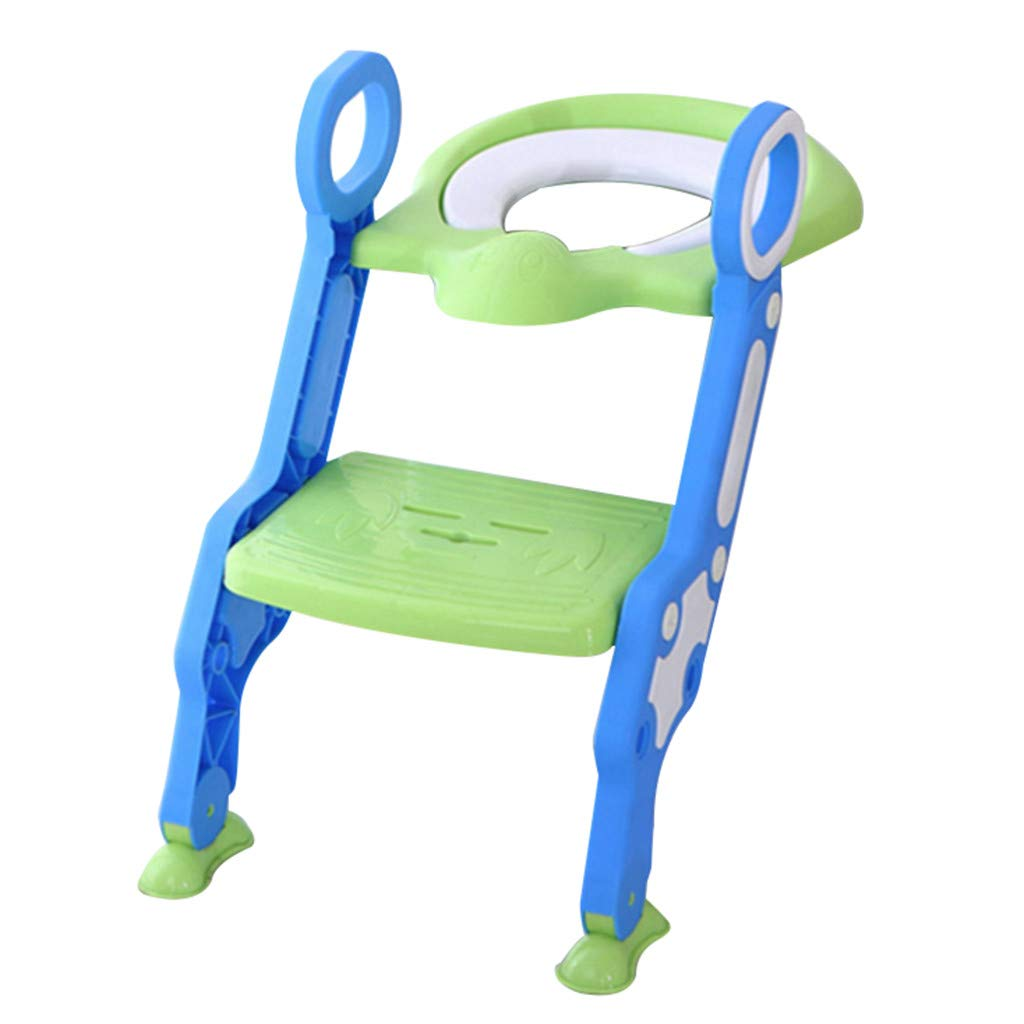 Toilet Seat,Lucoo Toilet Seat for Potty Training with Step Stool Ladder for Boy//Girl Baby Kid Children/'s Toilet Training Seat Chair with Soft Padded Seat and Sturdy Non-Slip Wide Step Blue