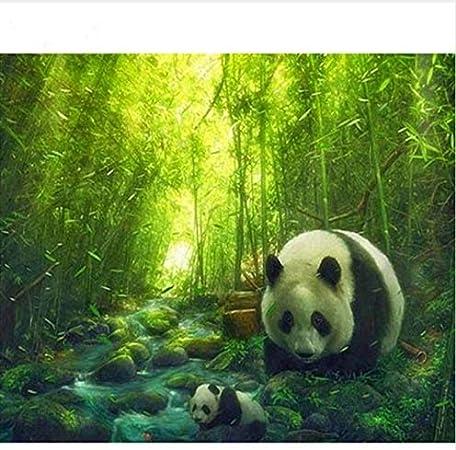 3d Diy Diamant Dessin Peinture Par Nombre Bambou Panda