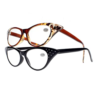 7078e49bfbd7 Sexy Cat Eye Designer Rhinestones Magnifying Reading Glasses For Womens  Readers (All 2 Colors,