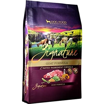 Zignature Goat Limited Ingredient Dog Food. Hypoallergenic Meat First Recipe 27 Pound Bag.