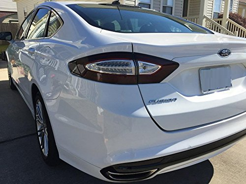 Precut Vinyl Tint Cover With White Light Cutout For 2013 2016 Ford Fusion Taillights 20 Dark Smoke