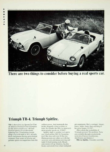 Review 1965 Ad Vintage Triumph
