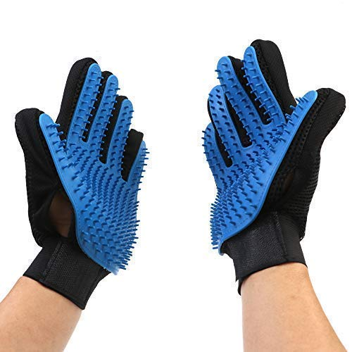 JAWLY Pet Hair Remover - Dog Grooming Kit Glove - Pet Shedding Tools Brush - Cat Hair Removal Glove - Upgraded Version 259 Gentle Massage Tips - Small, Medium, Large Pet Styling Tools