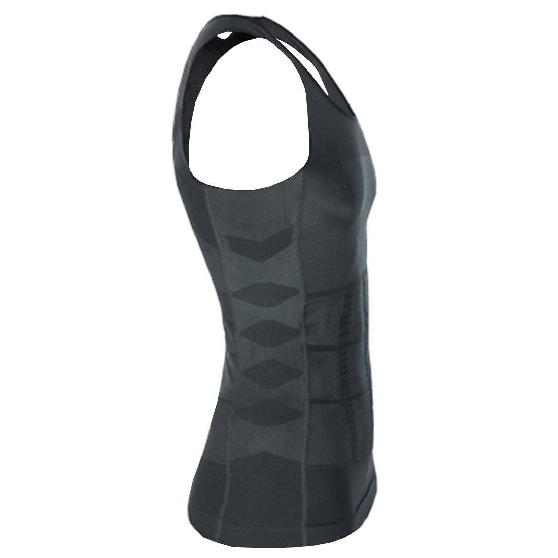 ZEROBODYS Mens Shaper Slimming Sleeveless T-shirt Elastic Body Sculpting Vest SS-M01 Grey
