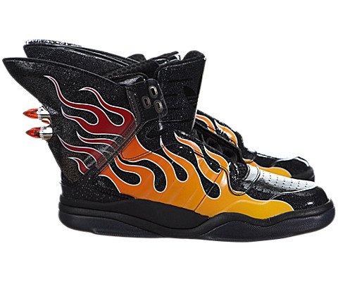 Jeremy Scott Shark Flame Mens In Black Black par Adidas