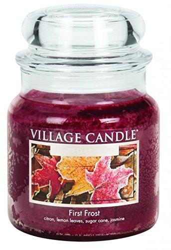 Village Candle 127316876 Bougie Première gelée, Jarre Moyenne, Verre, Rouge, 10,6 x 9,5 x 11,6 cm