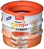 Diaper Genie Max Fresh Clean Laundry Scent Diaper Disposal Pail Refills, Pack of 3