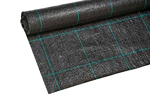 Barrera de hierba membrana, 100g/m² (1m x 15m)
