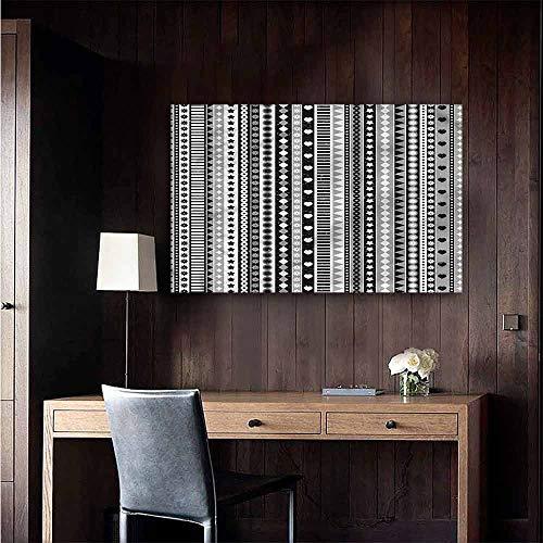 (Gabriesl Waterproof Art Wall Paper Poster Retro Geometric Ribbon Stripes for Kids Rooms Boy Room Size : W36 x)