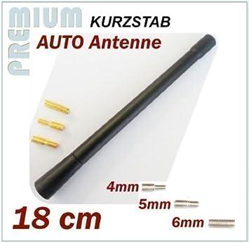 CITROEN KFZ Antena Universal 18 cm corta Varilla Antena con rosca M4 M5 M6 *** BERLINGO: Amazon.es: Electrónica