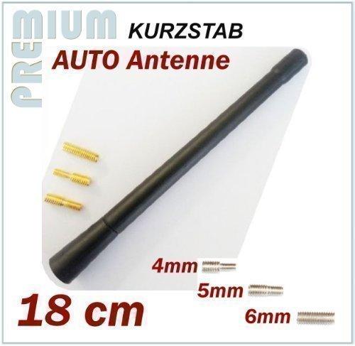 KFZ Antennenstab INION® Universal Kurz Stab Auto Antenne mit M4 M5 M6 Gewinde für SEAT --- Altea - Arosa - Cordoba - Exeo - Ibiza - Leon - Malaga - Marbella - Mii - Terra - Toledo --- Radio UKW / FM - Dachantenne 2MM Service UG