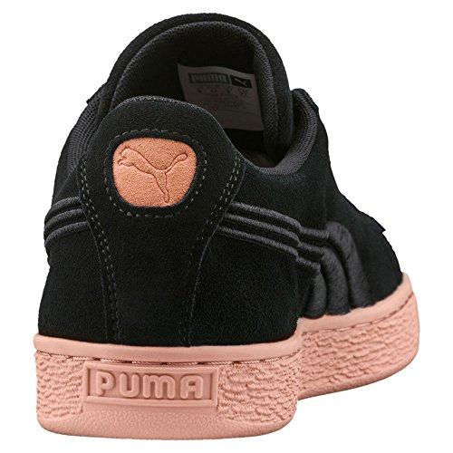 PUMA Suede Classic Badge FlipEM Men Black/Muted Clay (36649102) (10.5-Men)