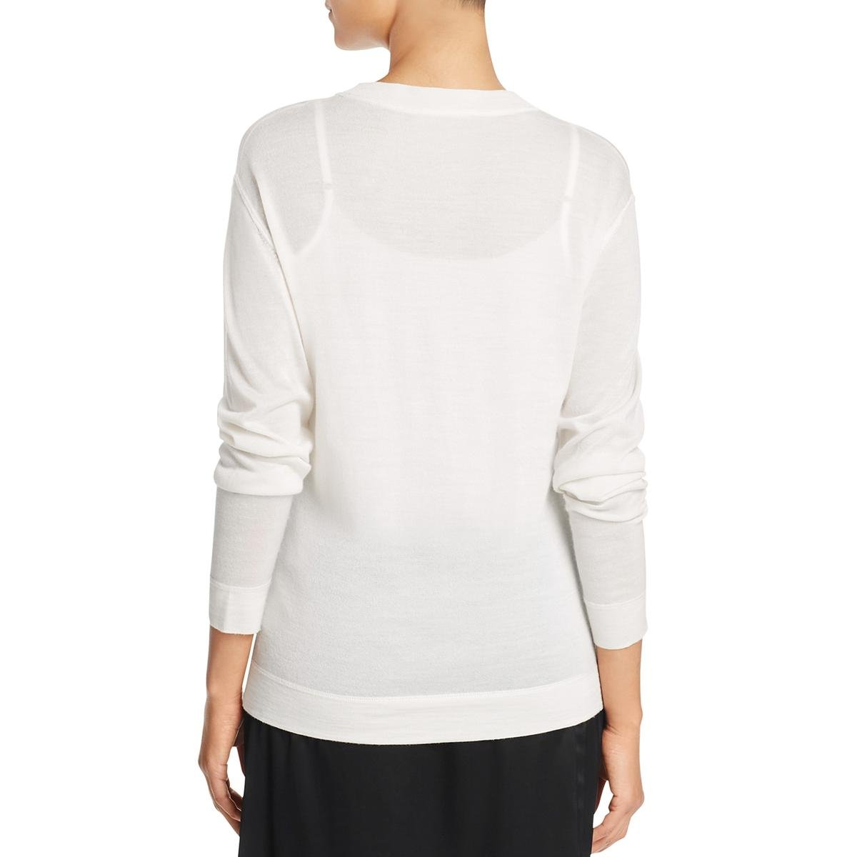 DKNY Womens Silk Mock Neck Casual Top Ivory P by DKNY (Image #2)
