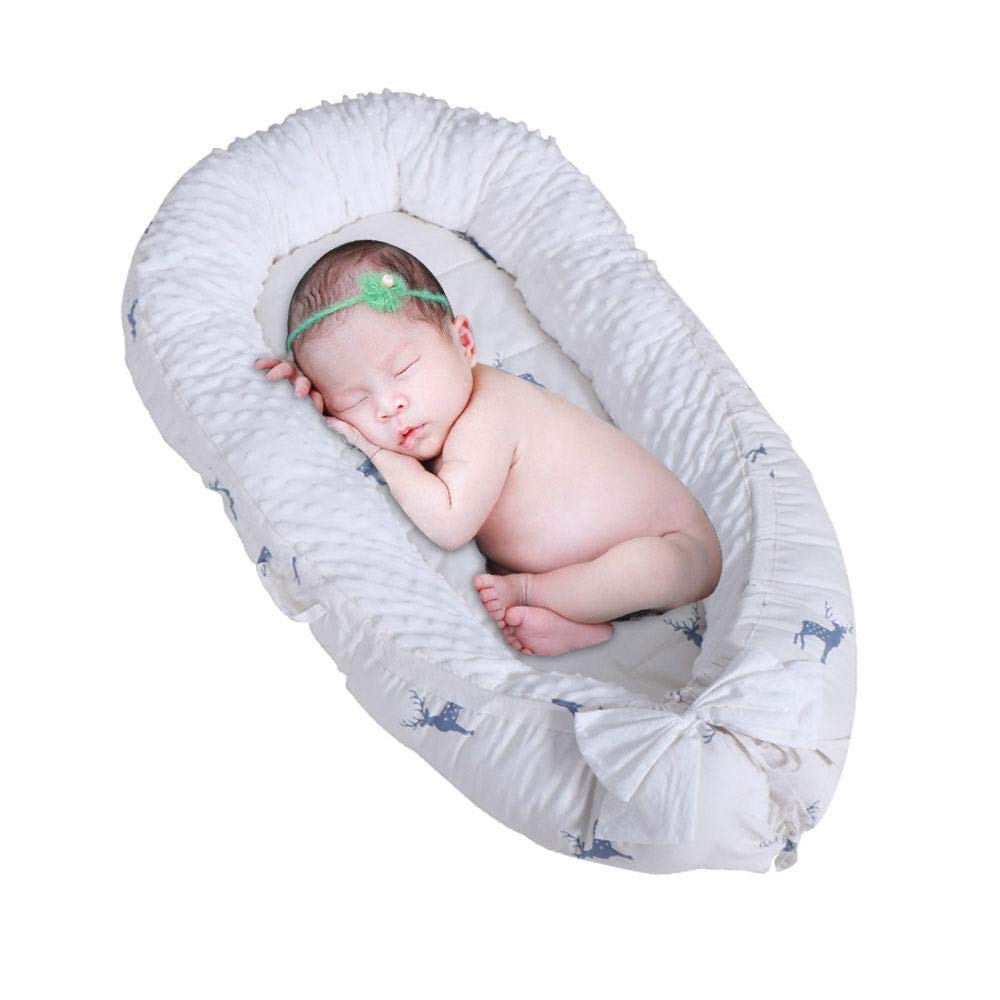 Baby Nest with Detachable Baby Lounger Bed Breathable Cover Portable Snuggle Bed for Bedroom Toddlers MOGOI Newborn Lounger 100/% Cotton Baby Bionic Bed