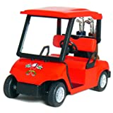 KinsFun 4½' Die-cast Metal Golf Cart Model (Red)