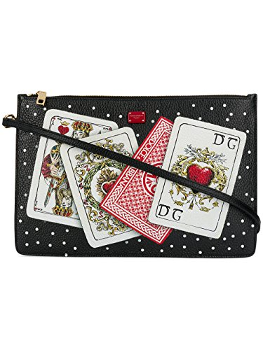 Dolce E Gabbana Women's Bb6492an931hhn61 Black Leather Shoulder - Dolce And Black Gabbana Bag