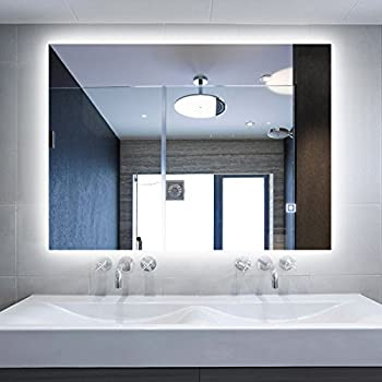 Alice Dimmable And Anti Fog LED Backlit Mirror Wall Mount Illuminated Vanity With