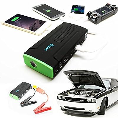 Indigi® Universal Vehicle Power Jump Starter 12800mAh & High Capacity Power Bank for Cellphone Tablet Laptop