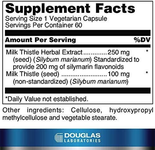 Douglas Laboratories – Milk Thistle Max-V – Standardized Herbal Extract for Liver Support – 60 Capsules