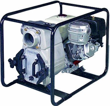 Tsurumi Ept3 100Ha Engine Driven Trash Pump With Low Oil Sensor  11 Hp  3  Discharge