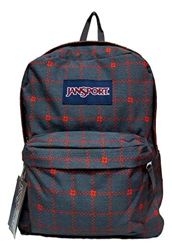 Jansport Superbreak Backpack! (Shady Grey Stitch Plaid) by JanSport