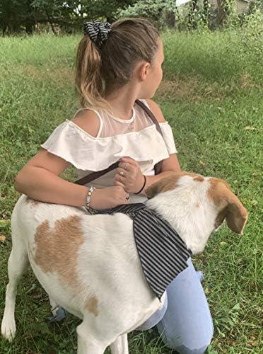 Geometric Dog Bandana for Dogs Doggies Boho Dog Scarf Matching Dog and Owner Set Bandana Hair Scrunchie Set Boy girl Dog Dog lover Gift