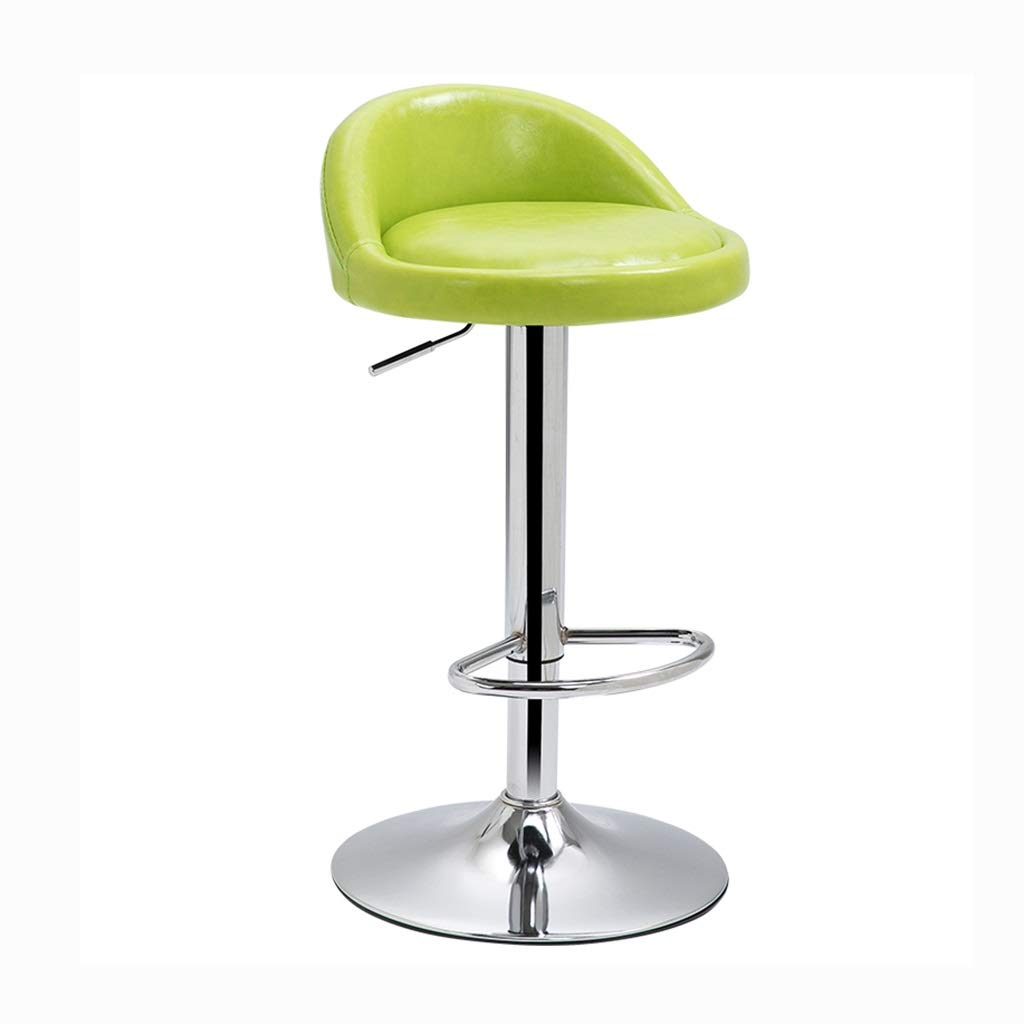 Breakfast Chair Bar Chair Office Chair Home Makeup Chair Front Desk Cashier Chair Learning Chair 360° Rotation Can Bear 100 Kg (Color : Green, Size : 38.560-80cm)