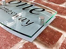 efecto de cristal acr/ílico Placa de se/ñal para casa personalizada con direcci/ón