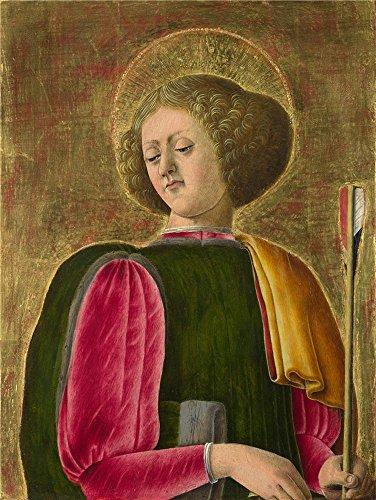 Oil painting ` Giorgio Schiavone Saint Sebastian `印刷ポリエステルキャンバスに、30x 40インチ/ 76x 101cm、最高のホームデコレーションとギフト、ジム装飾はこの複製品アート装飾プリントキャンバスの商品画像