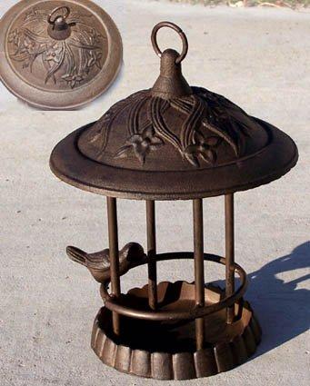 Cast Iron Gazebo (70740 Cast Iron Gazebo Bird Feeder Bath Antique)