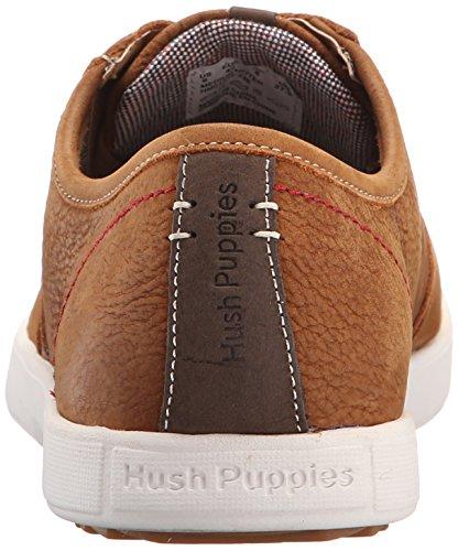 Hush Puppies Heren Hanston Berm Lederen Sneaker Bruin Leer