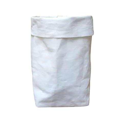 Logobeing Bolsa de Papel Kraft Lavable Flores Macetas Multifunción Bolsa de Almacenamiento Para El Hogar (Blanco, 8*8cm)