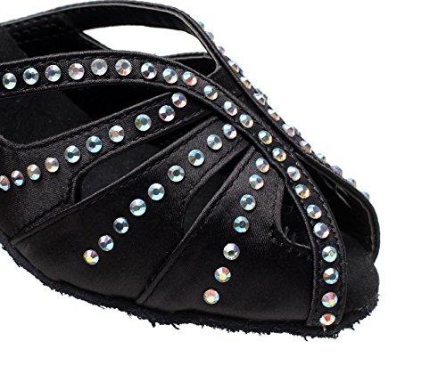 Para Salón Jazz Altos heeled6cm De Zapatos A Satén De Baile Latino UK3 Zapatos Our34 Modernos Samba Tacones Baile EU33 Sandalias JSHOE Tango Mujer Floral Chacha x1XqIwa