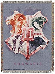 Harry Potter Houses Together Woven Tapestry Throw Blanket, 48""