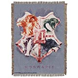 Warner Brothers Harry Potter, ''Houses Together'' Woven Tapestry Throw Blanket, 48'' x 60'', Multi Color