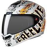 Steelbird Helmet SBA-1 Free Live with Plain Visor and Matt Finish (Medium 580 MM, Matt White with Orange)