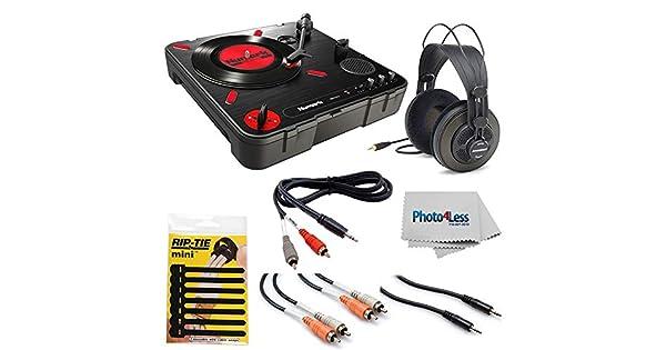Amazon.com: Numark PT01 - Tocadiscos portátil con ...