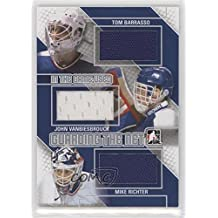 Tom Barrasso; John Vanbiesbrouck; Mike Richter #/60 (Hockey Card) 2013-14 In the Game-Used - Guarding the Net - Silver #GTN-13