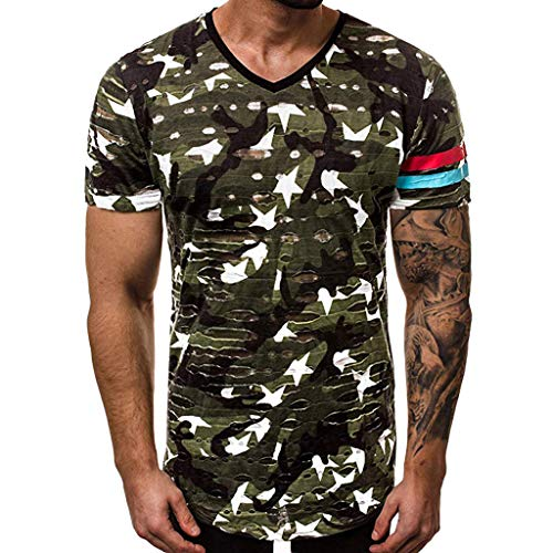 Camisetas Hombre Manga Corta, Rooper Hombres Ocio Ajustado