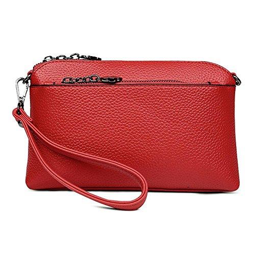Aoligei Mano Shell solo oblicuo pequeño bolso bolso mini bandolera de señora mano bolsa versión coreana mujeres moda bolso E