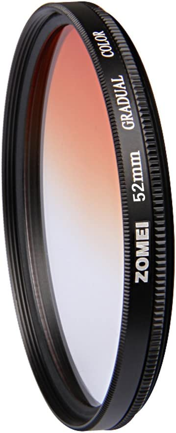 Grey Blue Orange Red Filter Set ZOMEI 52mm Graduated Gradient Neutral Density Color Filter Kit