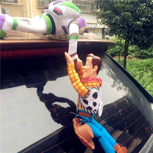 PAPWELL Buzz Lightyear Toy 10 - 12 inch Woody Toy Story Disney Pixar Big Plush Toys Large Stuffed Gift Collectable Christmas Halloween Birthday Gifts Cute Collectibles Collectible for Kids (Set 2)