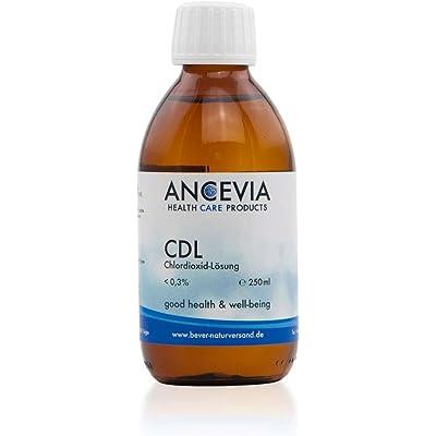 ANCEVIA® - Solución de dióxido de cloro 0.3% (250 ml) - CDS - CDL – Botella de vidrio marrón – Hecha en Alemania