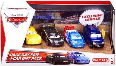 2013 Disney Pixar Cars - Race Day Fan 4 Car Gift Pack w/ Clu