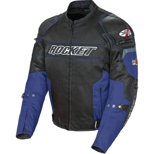 Joe Rocket 1460-1203 Resistor Men's Mesh Motorcycle Jacket (Blue/Black, Medium)