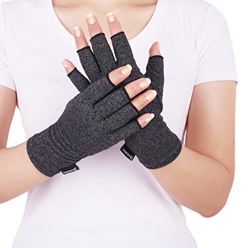 - Arthritis Compression Gloves Relieve Pain from Rheumatoid, RSI,Carpal Tunnel, Hand Gloves Fingerless for Computer Typing and Dailywork, Support for Hands and Joints (Black, Small)