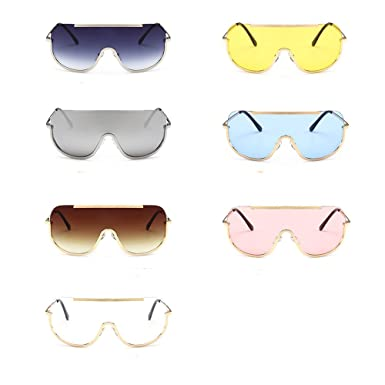 553a9d7dd772 Clearance Sale!OverDose Ins Hot Women Gradient Color Sunglasses Oversize  Clear Goggle Eyewear(#1): Amazon.co.uk: Clothing