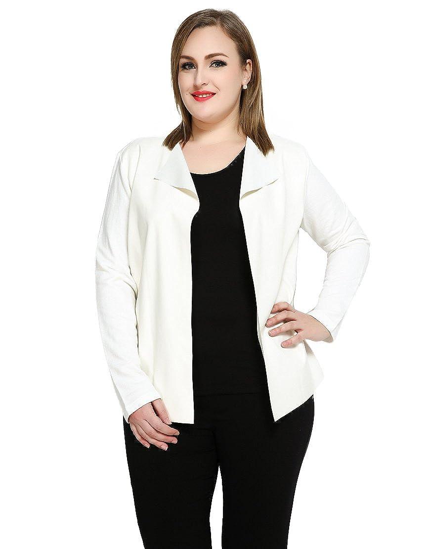 Really Love Women's Plus Size Pu Duster Jacket Faux Leather Blazer 1699